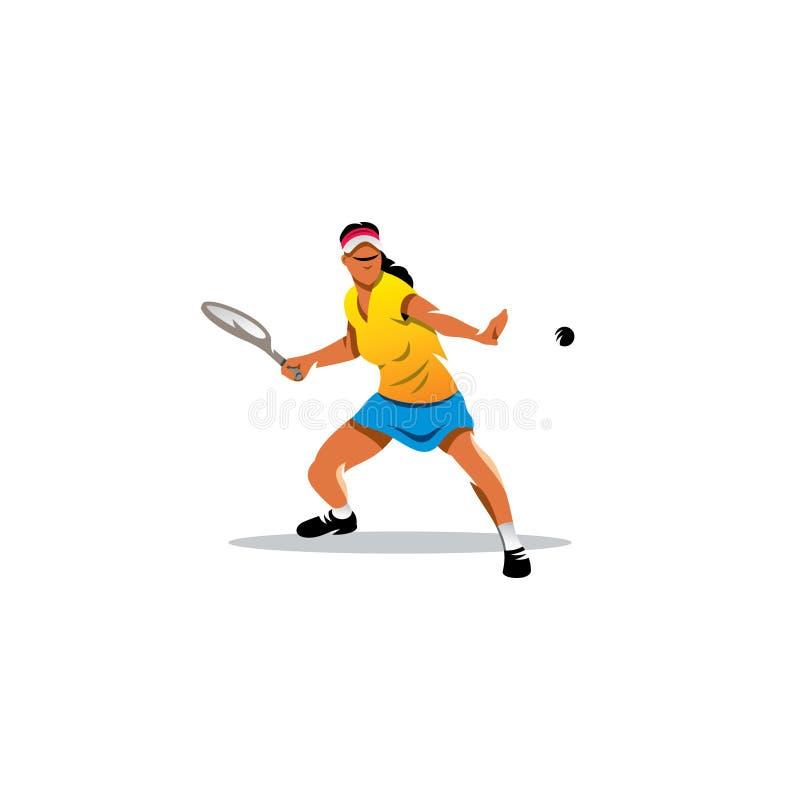 Mooie tennisspeler Vector illustratie royalty-vrije illustratie