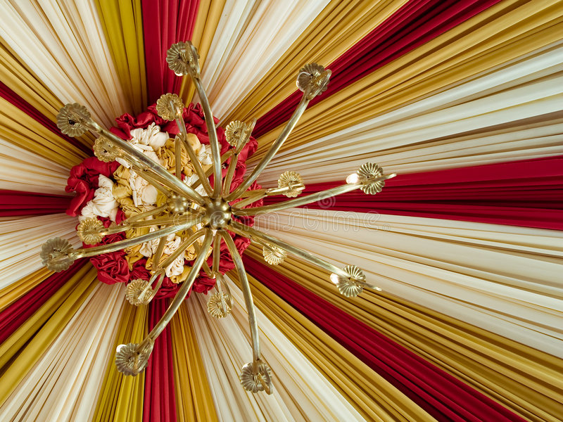 Mooie tent met antieke lamp royalty-vrije stock foto's