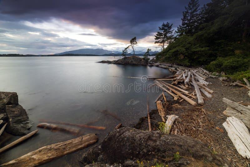 Mooie toneelscapes van het Vreedzame Eiland van Noordwesten Britse Colombia Canada Bowen stock fotografie