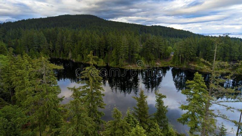 Mooie toneelscapes van het Vreedzame Eiland van Noordwesten Britse Colombia Canada Bowen stock foto's