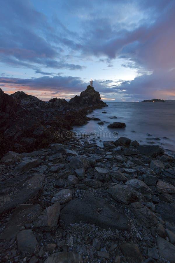 Mooie toneelscapes van het Vreedzame Eiland van Noordwesten Britse Colombia Canada Bowen stock foto