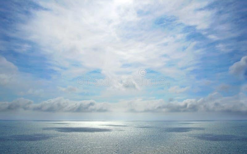 Mooie tropische overzeese horizon stock foto's