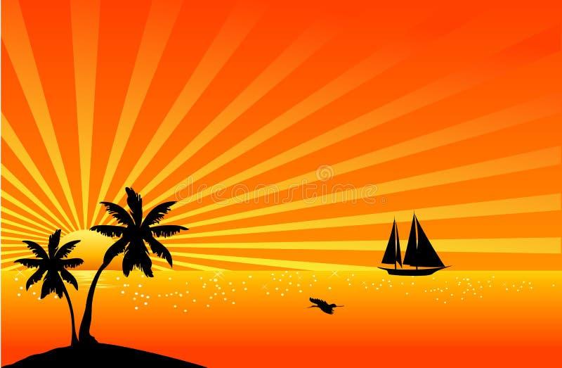 Mooie tropische scène vector illustratie