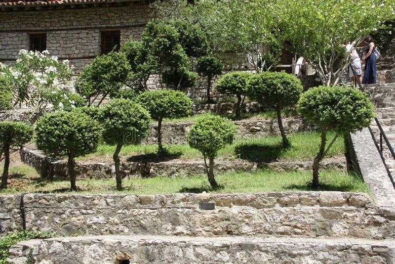 Mooie tuinen in Thessaloniki royalty-vrije stock afbeelding