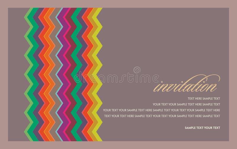Mooie uitnodigingskaart Vector illustratie royalty-vrije illustratie