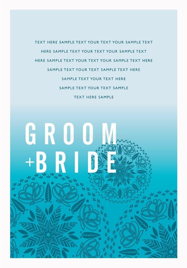 Mooie uitstekende bloemenuitnodigingskaart Vector illustratie stock illustratie
