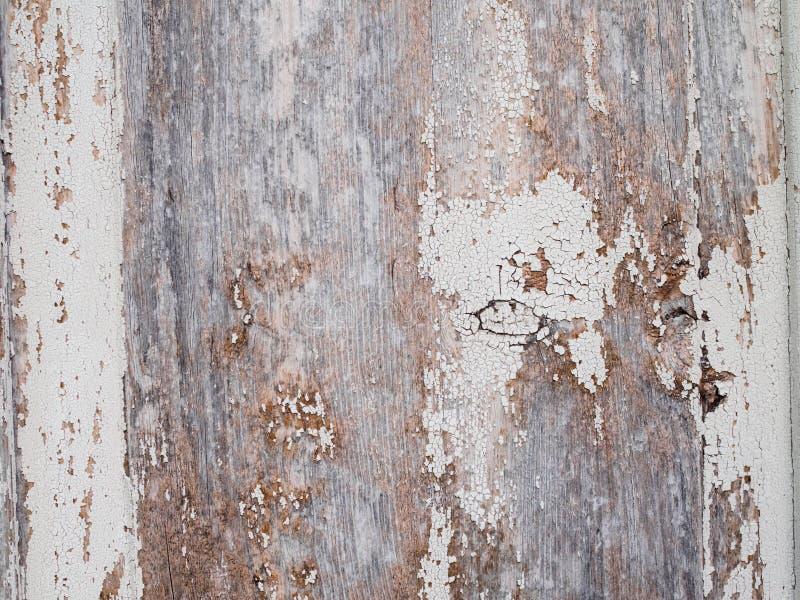Mooie uitstekende houten achtergrond met gebarsten kleur stock fotografie
