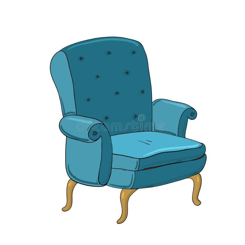 Mooie Uitstekende Stoel royalty-vrije illustratie