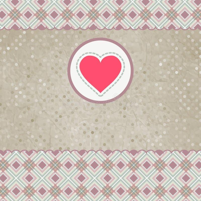 Mooie valentijnskaartkaart met hart. EPS 8 vector illustratie
