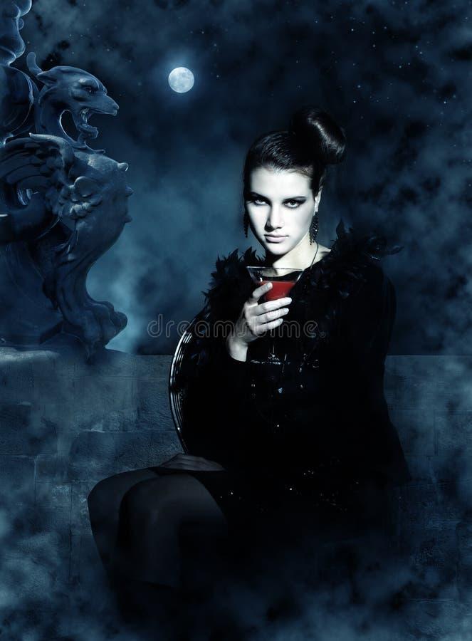 Mooie vampier royalty-vrije stock foto's