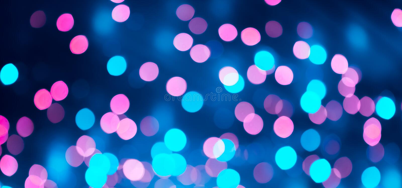 Mooie van Bokeh Roze en blauwe lichte textuur Als achtergrond stock foto's