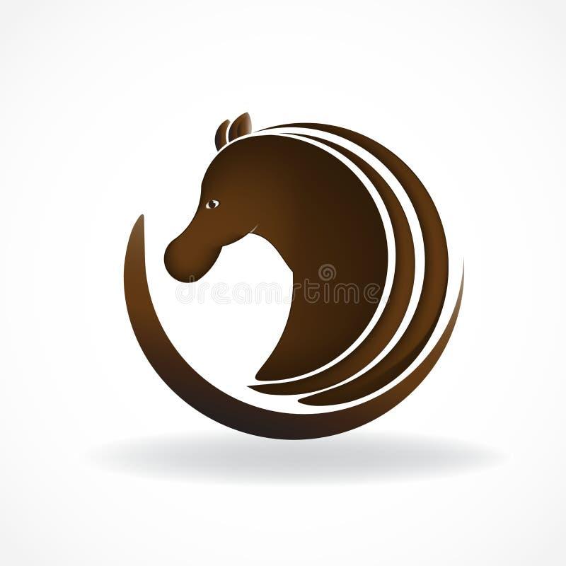 Mooie van het het identiteitskaartsymbool van het paardembleem vector van het het etiketbeeld het embleemvector royalty-vrije illustratie
