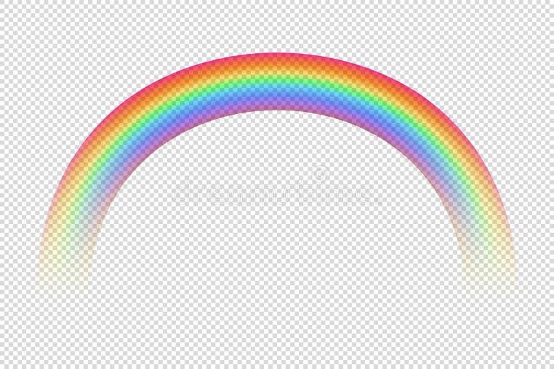 Mooie vectorregenboog Ge?soleerd Vectorontwerpelement Kleurenspectrum vector illustratie