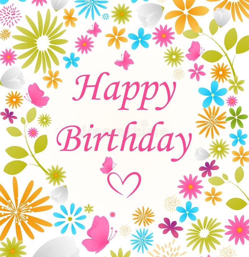 mooie verjaardagskaart vector illustratie illustratie bestaande uit