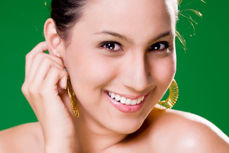 Mooie verleidelijke Glimlach stock fotografie