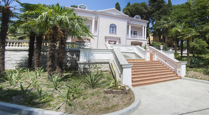 mooie villa royalty-vrije stock foto