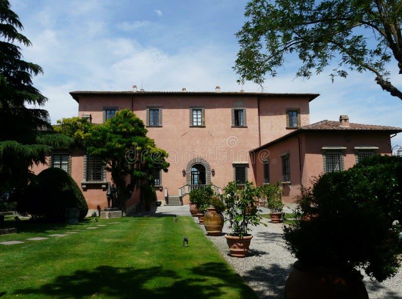 Mooie villa in het hart van Toscanië, Italië stock foto