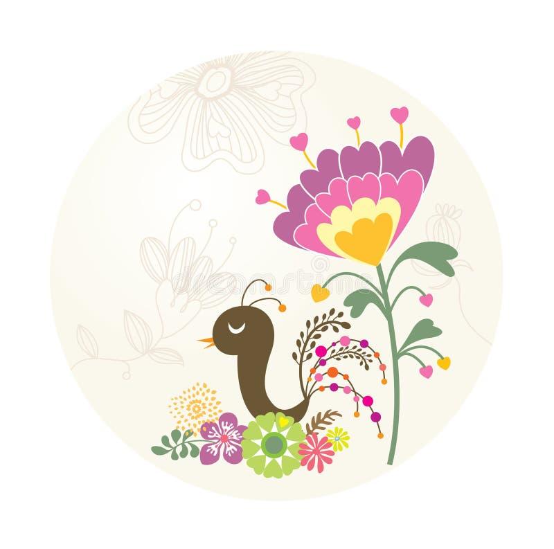 Mooie vogel in de tuin vector illustratie