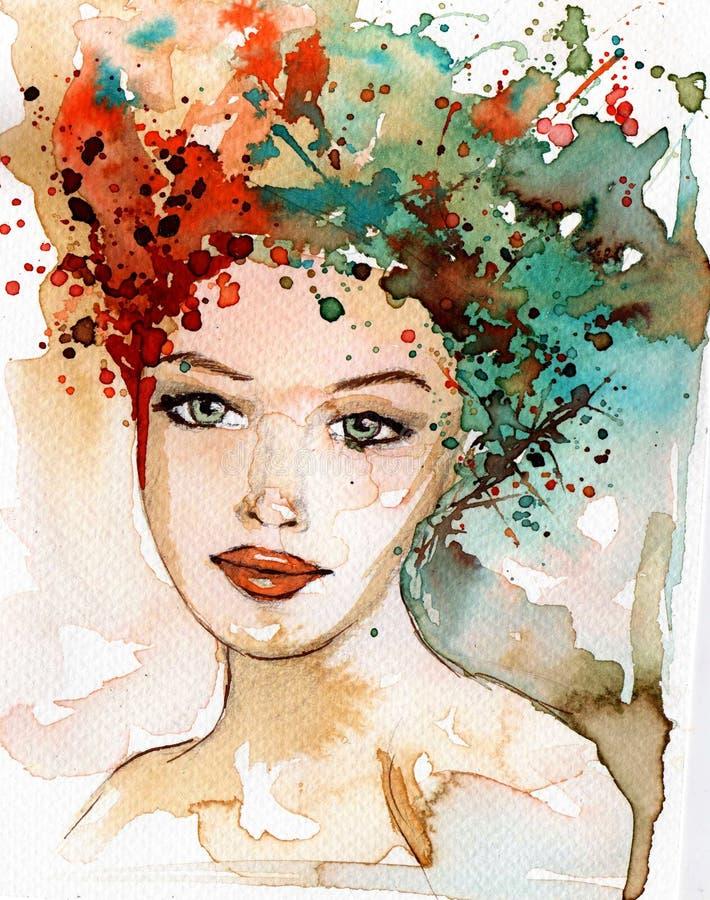 Mooie vrouw stock illustratie