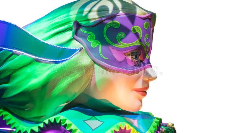 Mooie vrouw in Carnaval masker stock foto