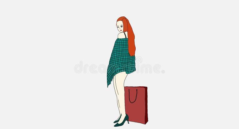 Mooie vrouw in de winkel stock afbeeldingen