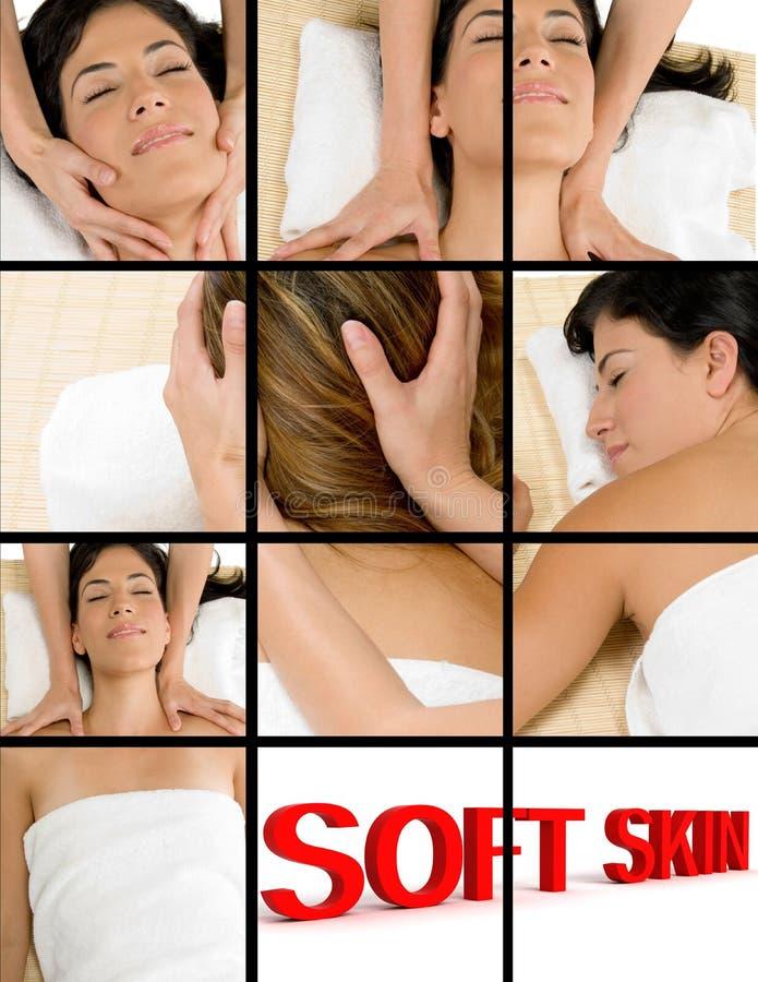 Mooie vrouw die massage neemt royalty-vrije stock afbeelding