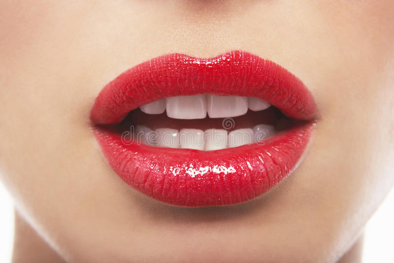 Mooie Vrouw met Rode Lippen stock afbeeldingen