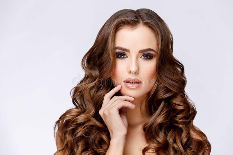 Mooie Vrouw met Schone Verse Huid stock fotografie