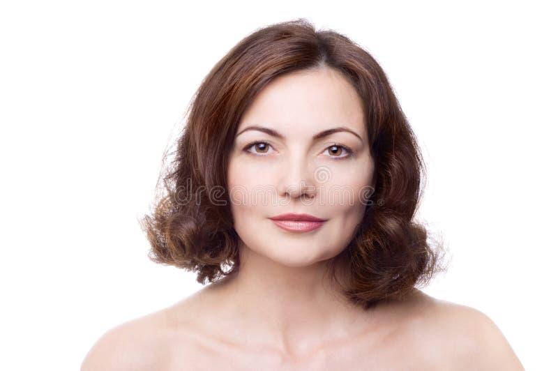 Mooie vrouw op middelbare leeftijd stock foto