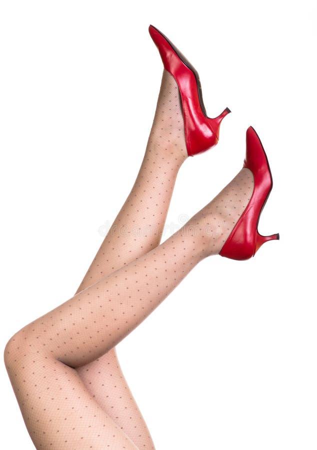 Mooie vrouwelijke benen stock foto