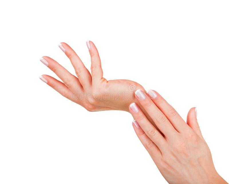Mooie vrouwelijke handen royalty-vrije stock afbeelding