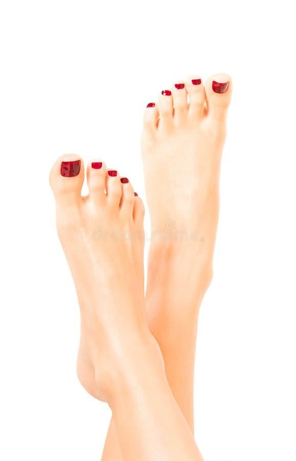 Mooie vrouwelijke voeten royalty-vrije stock afbeelding