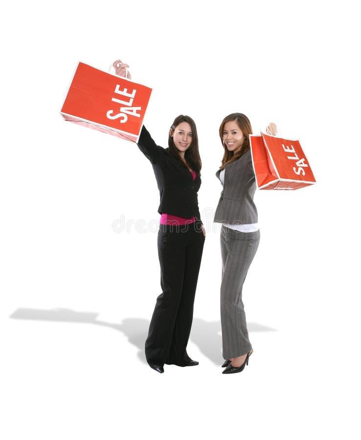 Mooie Vrouwen in het Winkelen royalty-vrije stock foto