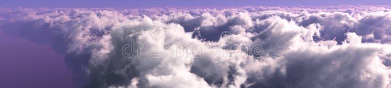 Mooie wolken, panorama van wolken royalty-vrije stock afbeelding