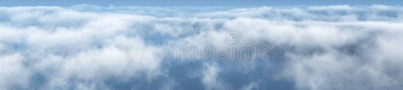 Mooie wolken, panorama van wolken stock afbeelding