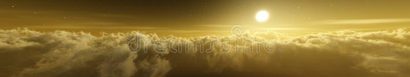 Mooie wolken, panorama van wolken, royalty-vrije stock afbeelding