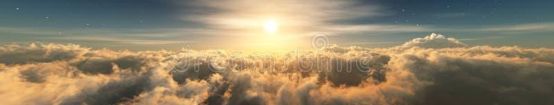 Mooie wolken, panorama van wolken, stock afbeeldingen