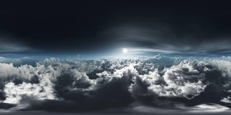 Mooie wolken, panorama van wolken, HDRI, milieukaart royalty-vrije stock afbeeldingen