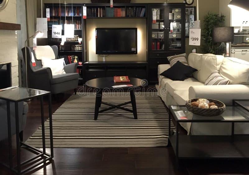 Mooie woonkamer voor huis stock fotografie