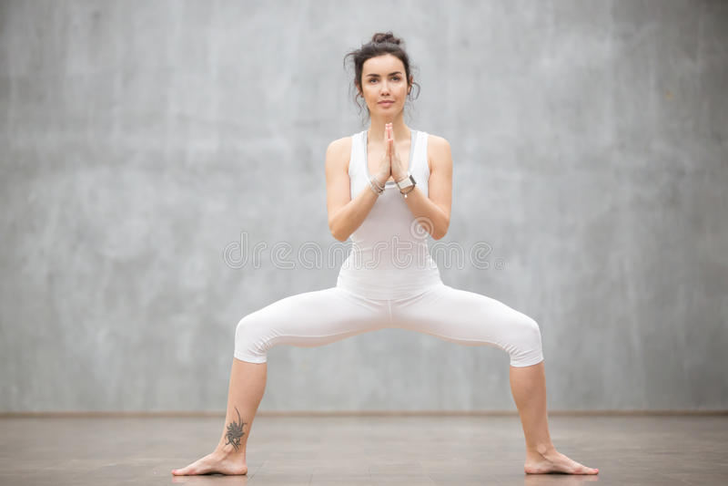 Mooie Yoga: De godin stelt royalty-vrije stock foto