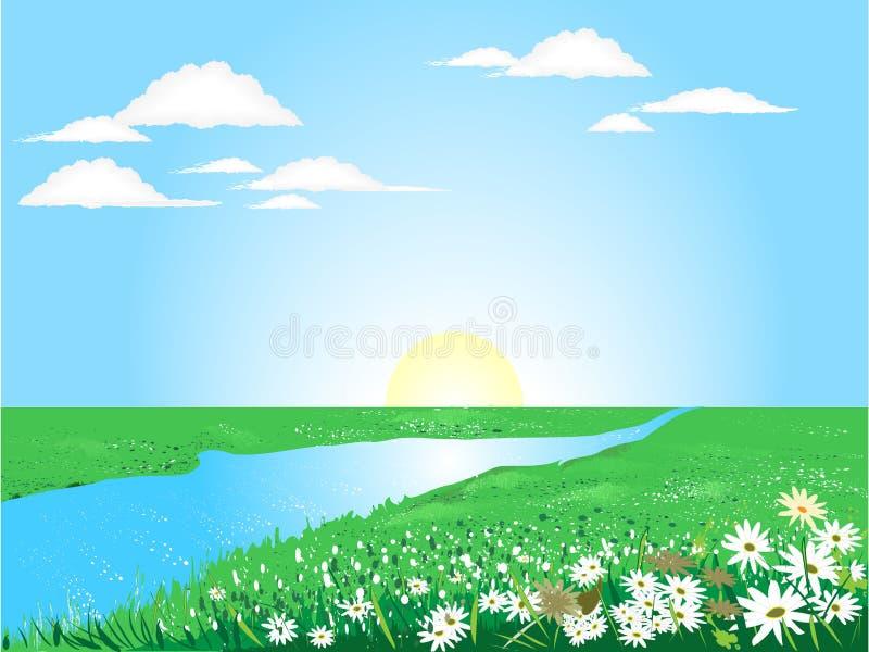 Mooie zonnige dag stock illustratie