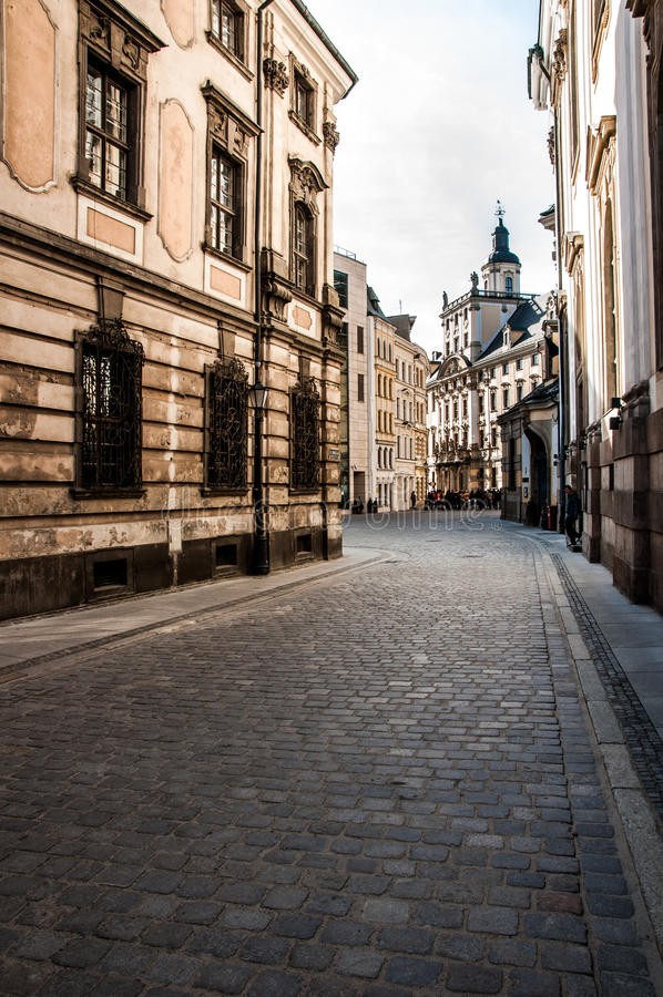 Mooie zonnige dag in Wroclaw royalty-vrije stock foto