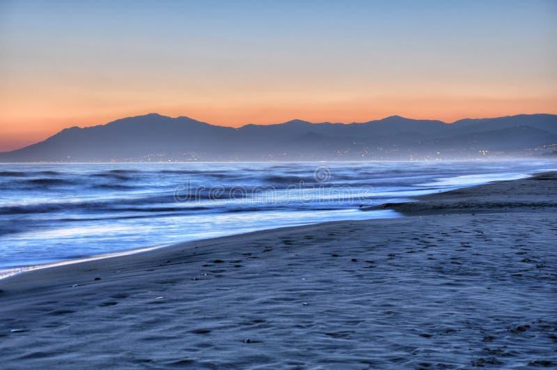 Mooie zonsondergang 3 van Costa del Sol stock fotografie