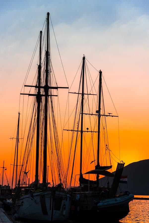 Mooie zonsondergang bij het overzees, Griekenland royalty-vrije stock foto's
