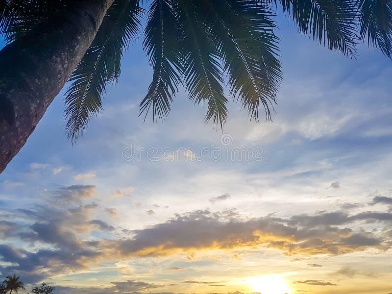 Mooie zonsondergang in Boracay Filippijnen stock fotografie