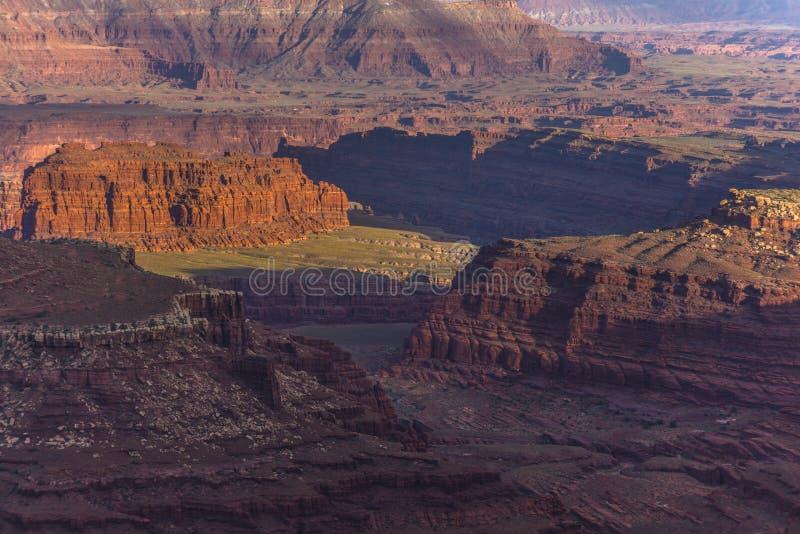 Mooie Zonsondergang dichtbij het Marlboro-Punt Canyonlands Utah stock fotografie