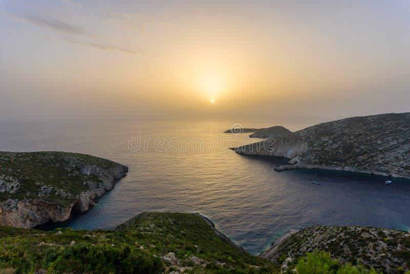 Mooie zonsondergang van zanteeiland royalty-vrije stock afbeeldingen
