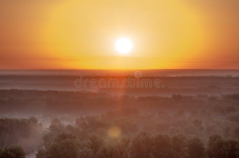 Mooie zonsopgang in de zomer stock fotografie