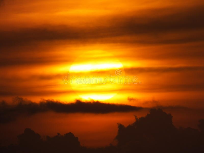 Mooie zonsopgang in Matemwe, Zanzibar royalty-vrije stock afbeelding