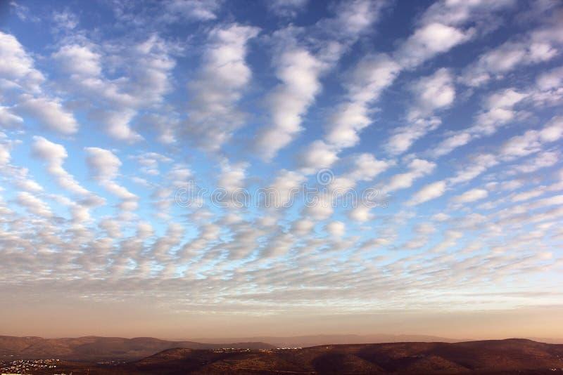 Mooie zonsopgang over Cana van Galilee, Israël stock afbeelding